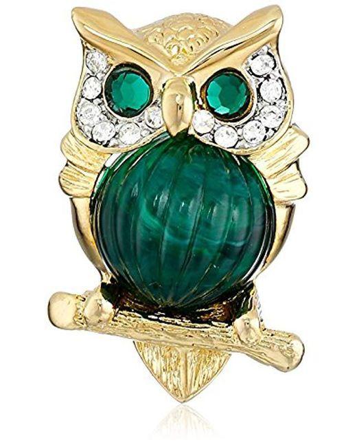Kenneth Jay Lane - Multicolor Small Owl Brooch - Lyst