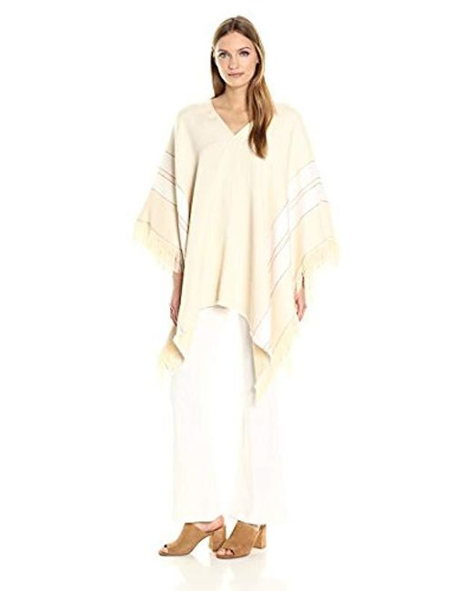 Theory - Natural Hibsann Fringe Poncho - Lyst