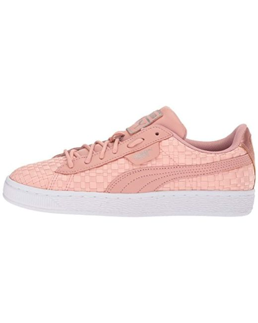 9dff7ae8008 Lyst - PUMA Basket Satin En Pointe Wn Sneaker in Pink - Save 61%