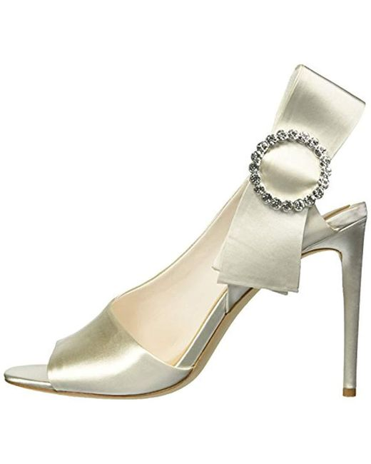 a6d88fefb28a Lyst - Imagine Vince Camuto Regin Heeled Sandal in White - Save 60%