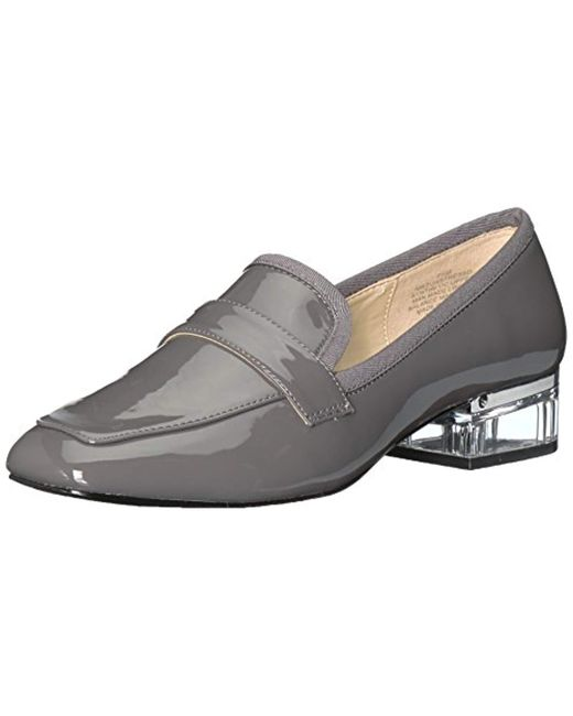 Nine West Gray Unstressd Synthetic Loafer Flat