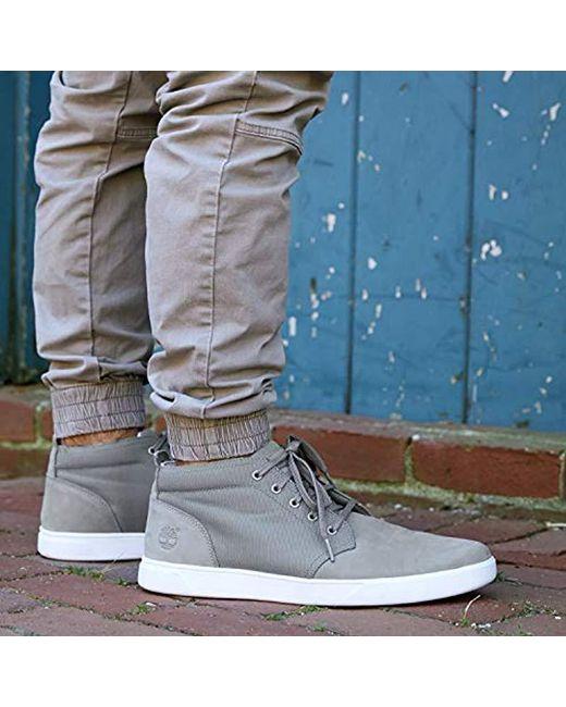 22554ccdb06 Men's Gray Groveton Ltt Chukka Leather & Fabric Sneaker
