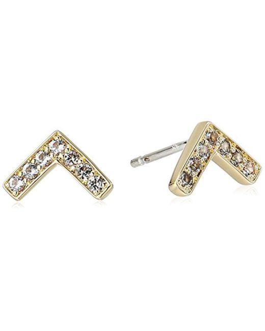 Elizabeth and James - Metallic Edo Stud Earring, Gold - Lyst