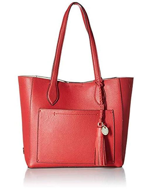 aa74bddfdb8 Cole Haan - Red Piper Leather Tote (barbados Cherry) Tote Handbags - Lyst  ...