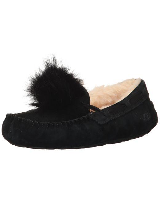 Black Velvet Pom Pom Ballerina Slippers UK 4 New In Pack