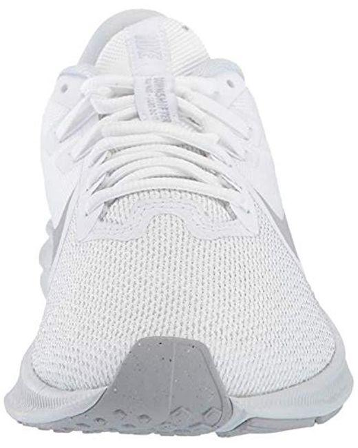 8450828f6de4e Women's Gray Downshifter 9 Running Shoe, White/wolf Grey-pure Platinum, 8  Regular Us