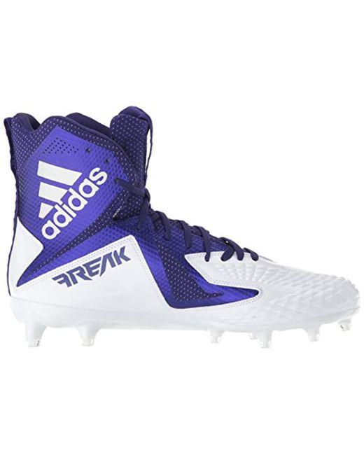 b6d4acc5cc876 Men's Freak X Carbon Mid Football Shoe, White Collegiate Purple, 11 M Us
