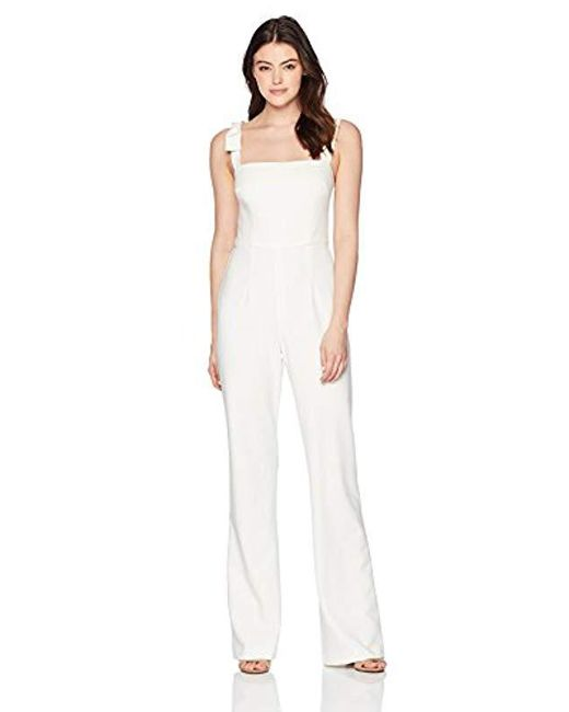 Black Halo - White Dana Jumpsuit - Lyst