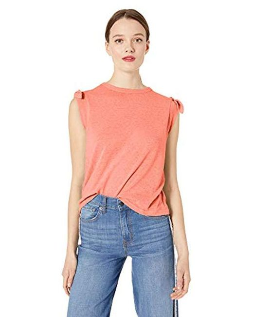Ella Moss Pink Betty Tie Shoulder Knit Top
