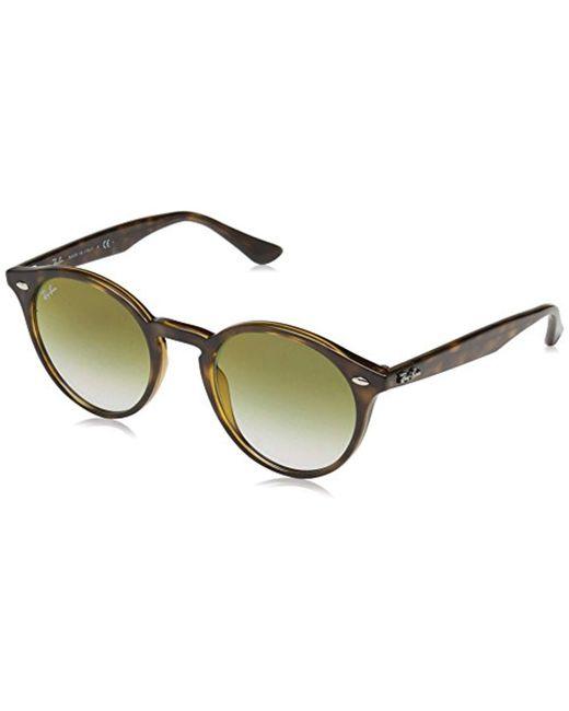 b5430823c9 Ray-Ban - Multicolor 0rb2180f Non-polarized Iridium Round Sunglasses Havana  51.6 Mm for ...