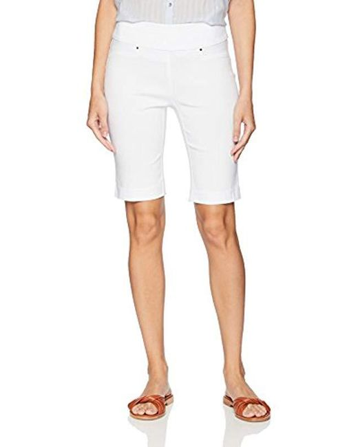 Rafaella White Supreme Stretch Short