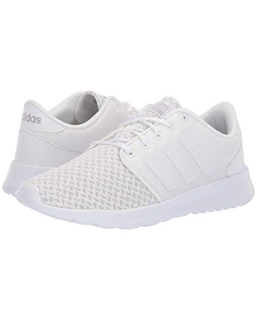 adidas cloudfoam qt racer white