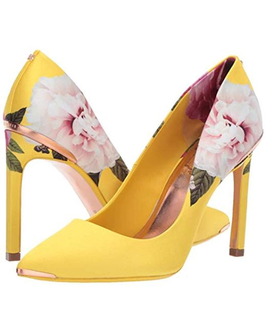 Details about TED BAKER Jiena Navy Blue Gold Cutout Pump High Heel Shoes NEW Womens Sz 7