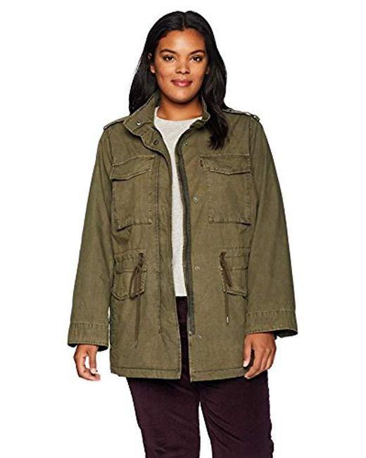 Levi's Green Plus-size Parachute Cotton Military Jacket