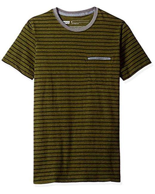 Levi's - Green Luke Speckled Snow Jersey Stripe Short Sleeve Shirt for Men - Lyst