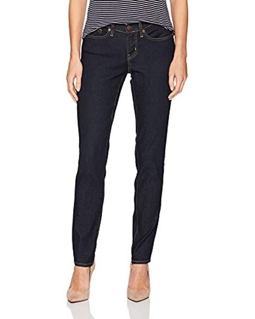ff6a61369ef Signature by Levi Strauss & Co. Gold Label - Blue Curvy Skinny Jeans - Lyst  ...