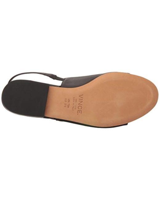7d64b482f12 Lyst - Vince Dawson Flat Sandal in Black - Save 34%
