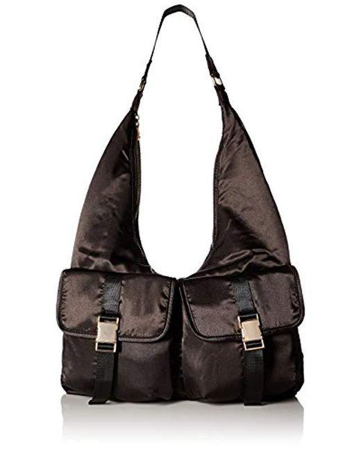 Steve Madden - Black , Cole, Women Satin Hobo With Functional Outside Pockets, Comfortable Shoulder Strap - Lyst