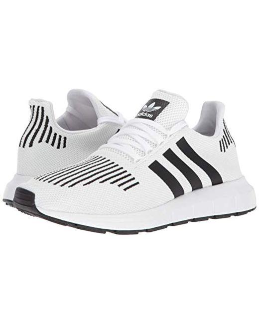 adidas Originals Men's Swift Run Shoes,whitecore blackmedium grey heather,7 M US