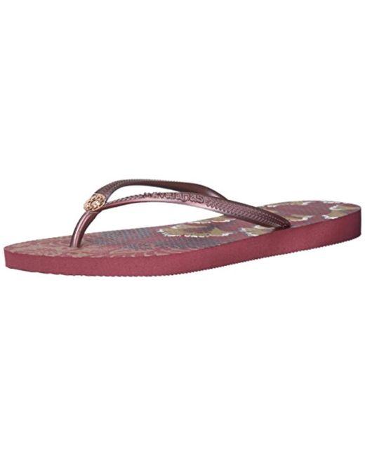 04f6b9dfa Havaianas - Purple Slim Flip Flop Sandals
