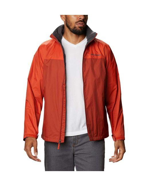 Columbia Red Glennaker Lake Lined Rain Jacket for men
