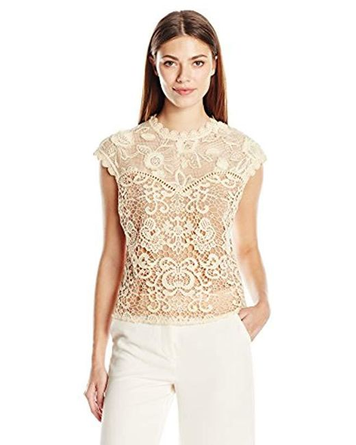 Plenty by Tracy Reese - White Lace Combo Top - Lyst