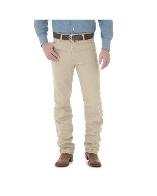 Wrangler Natural Cowboy Cut Original Slim Fit Western Jean,dark Beige,32x36 for men