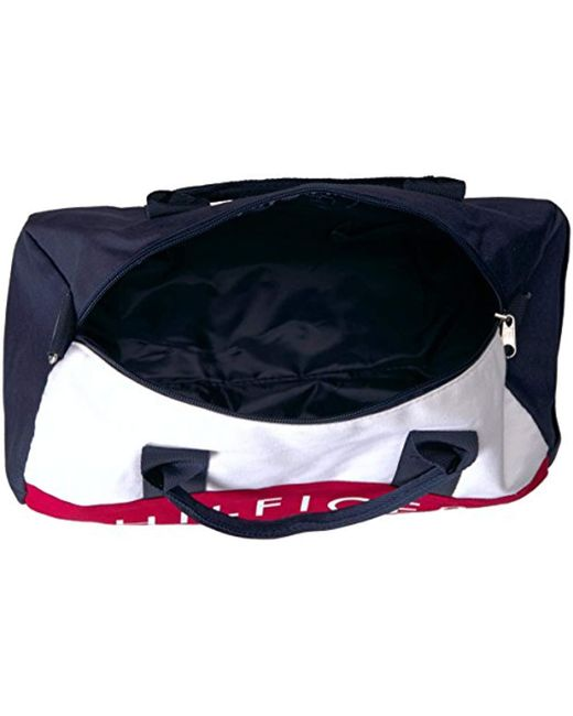 8139a15e Tommy Hilfiger Mini Duffle Bag Tommy Patriot Colorblock in Blue - Lyst