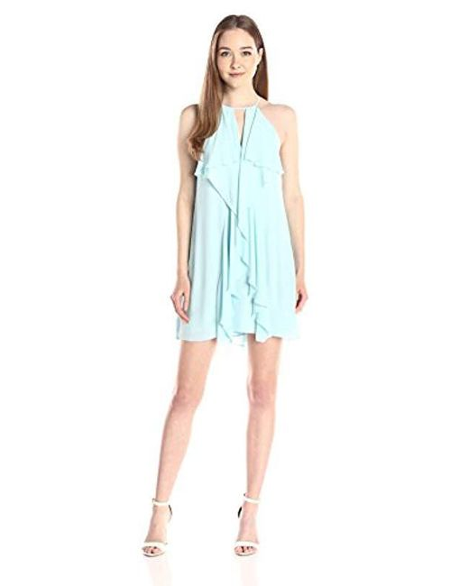 BCBGMAXAZRIA - Blue Hattie Short Ruffle Dress - Lyst