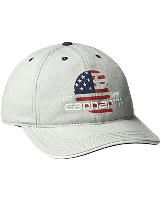 78e2b9039846f8 Carhartt Filled Flag Ball Cap in Metallic - Save 46% - Lyst