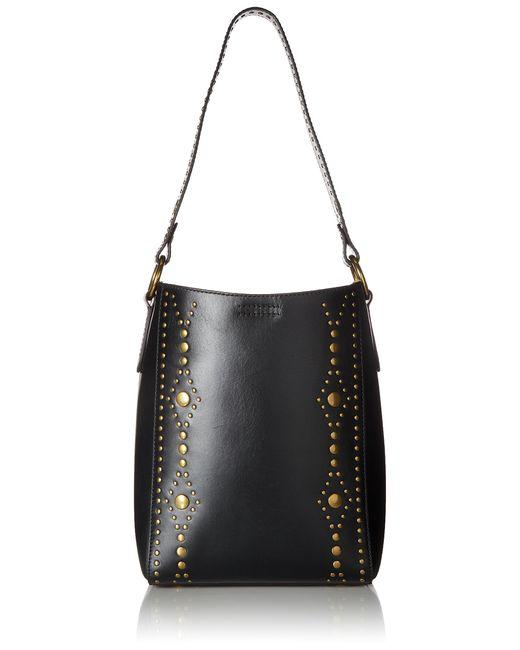 Frye Black Harness Stud Bucket Bucket Bag