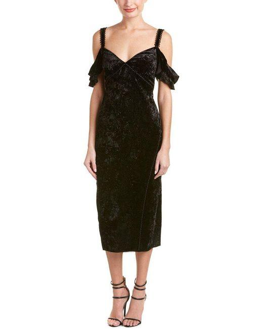 Rachel Zoe Black Kinsley Ruffle Slip Dress
