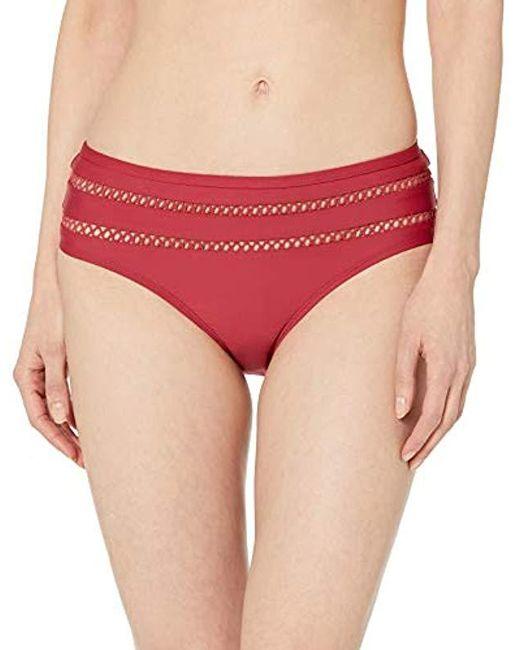 Ella Moss Red Retro Swimsuit Bikini Bottom