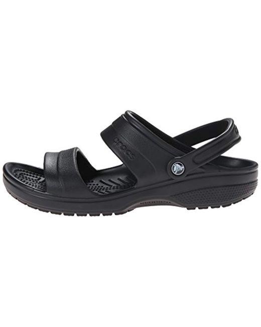 105f5ee14 ... Crocs™ - Black And Classic Sandal for Men - Lyst ...