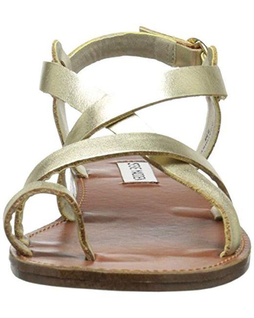 08f67f47a671 Lyst - Steve Madden Agathist Sandal in Metallic - Save ...