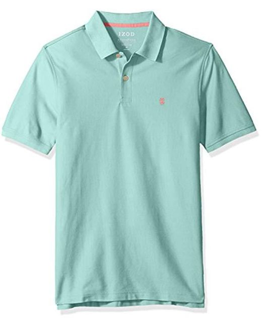 Izod - Blue Clearance Advantage Performance Solid Polo Shirt for Men - Lyst