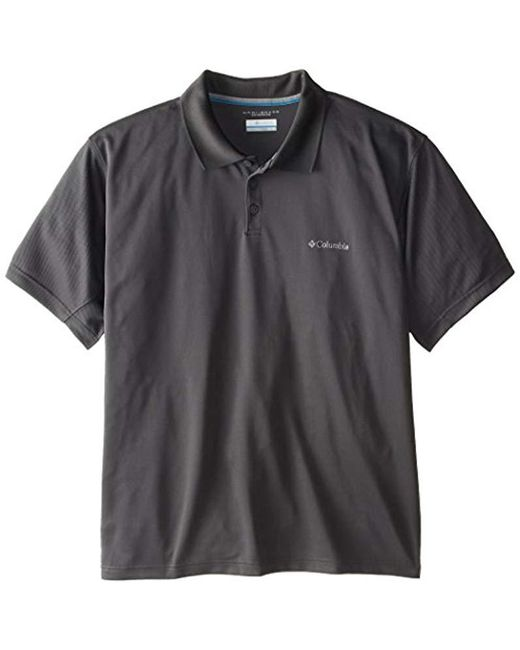 Columbia Gray Big & Tall New Utilizer Polo for men