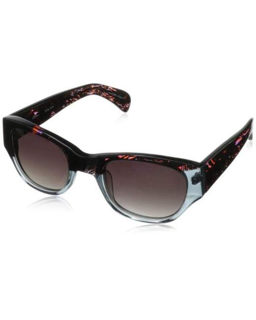 Kensie Black Funky Fresh Round Sunglasses