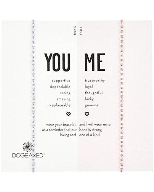 Dogeared - Metallic S Ss Pink/lavender Friendship Bracelet, Silver, 9 - Lyst