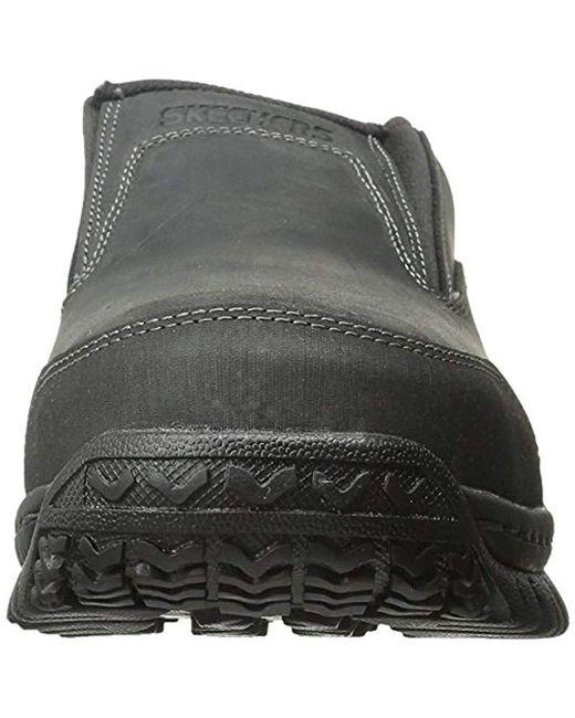 Work Slip Men's Shoe Hartan Toe Black Steel For On N8nPXwO0kZ