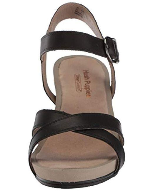 b57a160de4f Women's Black Mariska Buckle Qtr Heeled Sandal
