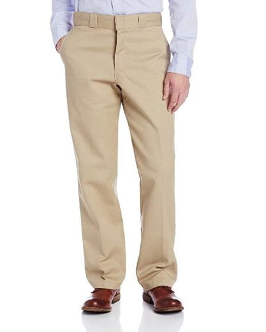 Dickies Natural Relaxed Fit Flannel-lined Work Pant for men
