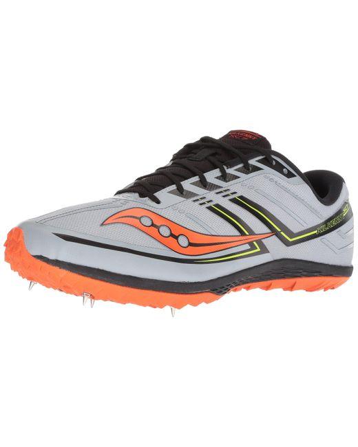 Saucony Gray Kilkenny Xc7 Track Shoe for men