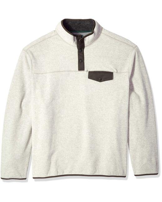G.H Bass /& Co Mens Big and Tall Arctic Terrain Polar Fleece 1//4 Snap Mockneck Soft Pullover