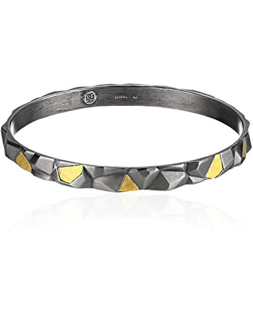 Gurhan - Metallic Century Sterling Silver Darkened Sculptural Bangle Bracelet - Lyst