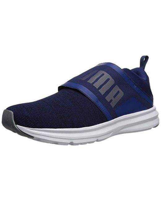 bb41755c20a6 Lyst - PUMA Enzo Strap Knit Sneaker in Blue for Men - Save 7%