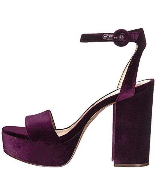 3ef52b12e8f4 Lyst - Nine West Krewl Heeled Sandal in Purple - Save 8%
