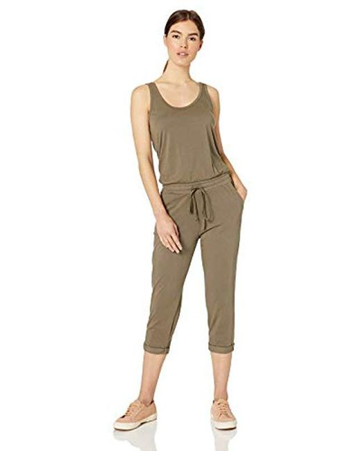 Michael Stars Green Tank Jumpsuit With Drawstring Waist
