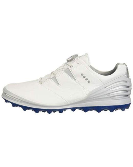 3e13a1c4c76a ... Ecco - White Cage Pro Boa 2 Gore-tex Golf Shoe for Men - Lyst ...