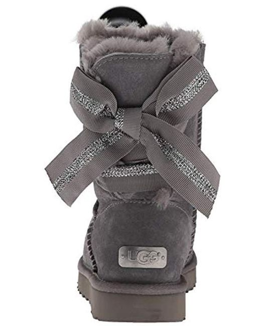 f8b21ac6206 Women's Gray W Customizable Bailey Bow Short Fashion Boot